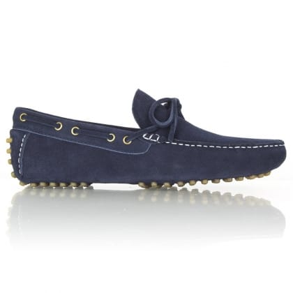 Daniel Navy Suede Colonia Bobble Sole Loafer