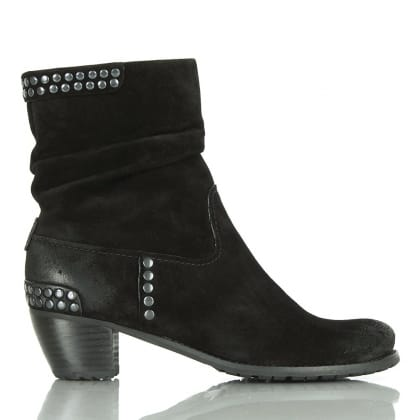 Kennel & Schmenger Black Suede 21 35110 Women's Studded Ankle Boot