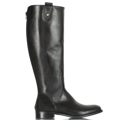Daniel Black Leather Shapes  Women's Flat Riding Boot