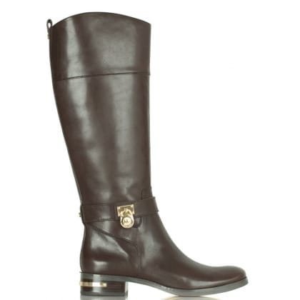 Michael Kors Aileen Brown Leather Riding Boot