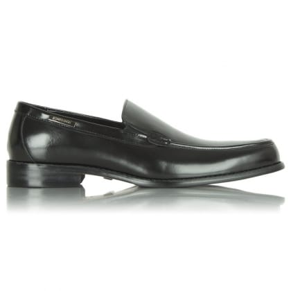 Black Romeo Gigli Men's Leather Loafer