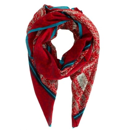 Marc Jacobs Red Doodle Notebook Scarf