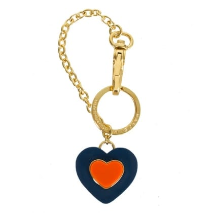 Marc By Marc Jacobs Blue Two Hearts Bag Charm