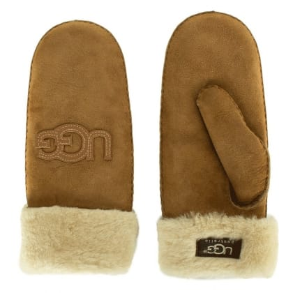 UGG® Australia Authorised Retailer Logo Mitten Chestnut Women's Glove