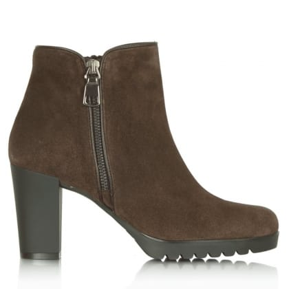 Daniel Commited Taupe Suede Rubber Heel Ankle Boot
