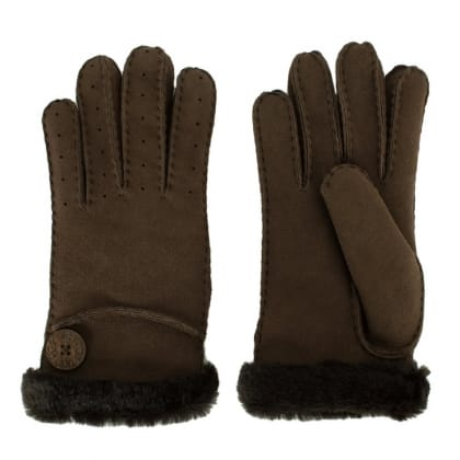 UGG® Australia Authorised Retailer Bailey Brown Suede Leather Women's Glove