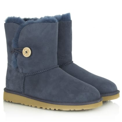 UGG Navy Kids Bailey Button Boot