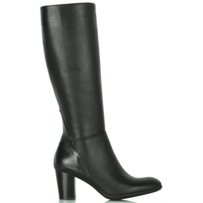 Lamica Black Leather Acimal 11 Knee Boot