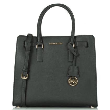 Michael Kors Black leather Dillon large tote bag