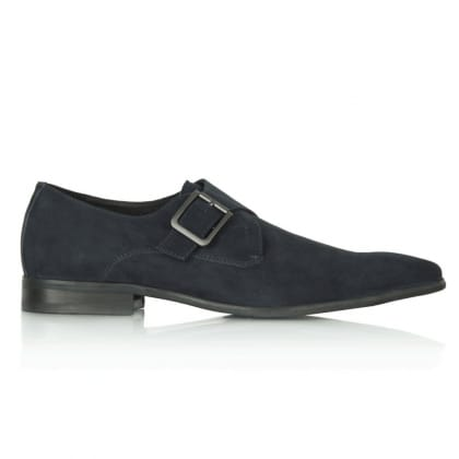 Daniel Navy Romeo Gigli Men's Suede Loafer with Brogue detail