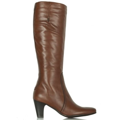 Lamica Tan Acimal 60 Leather Knee Boots