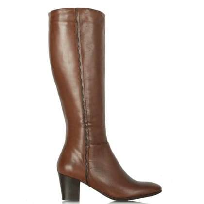 Lamica Brown Leather Acimal 54 Knee Boot