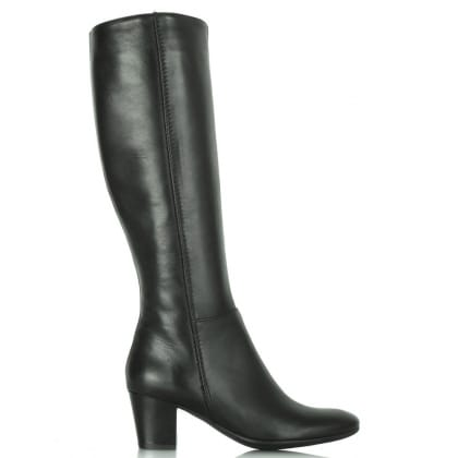 Lamica Black Leather Acimal 57 Knee Boot