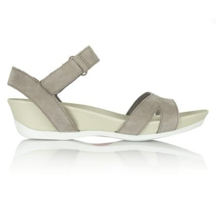 Camper Women's Grey Leather Micro Sandal