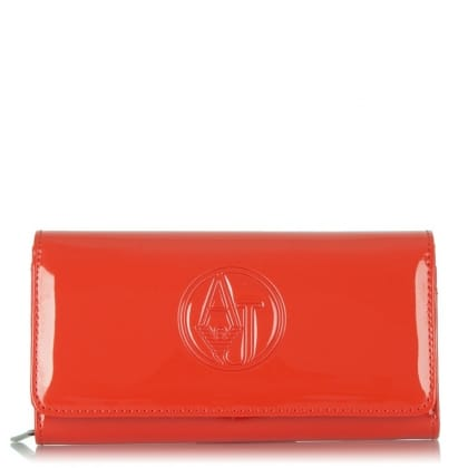 Armani Jeans  Agnew Red Patent Wallet