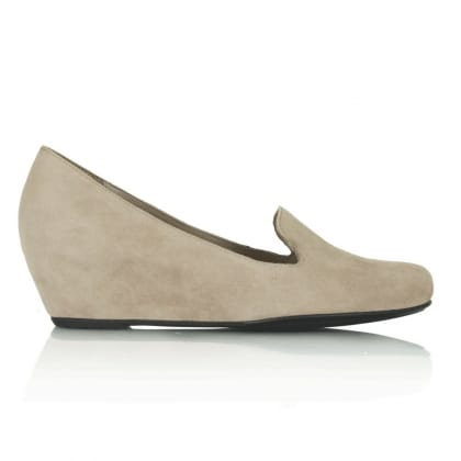 Hogl Beige Golightly Wedge Loafer
