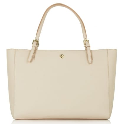 Tory Burch Nude Leather York Buckle Women's Tote Bag