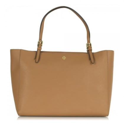 Tory Burch York Buckle Tan Leather Tote Bag