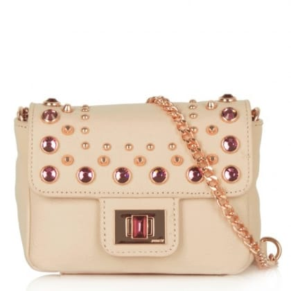 Juicy Couture Holiday Mini G Pink Leather Crossbody Bag