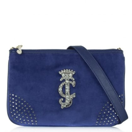 Juicy Couture Glamour Blue Crossbody Bag