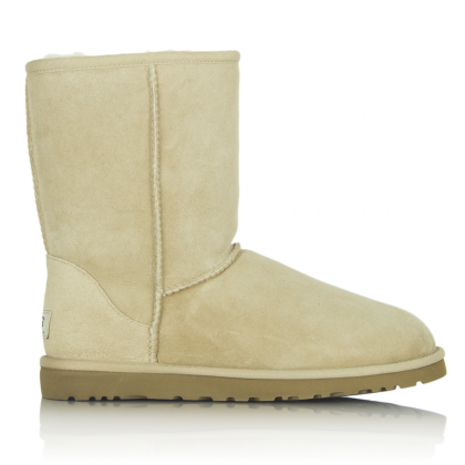 UGG® Australia Authorised Retailer Classic Short Beige Suede Womens Boot