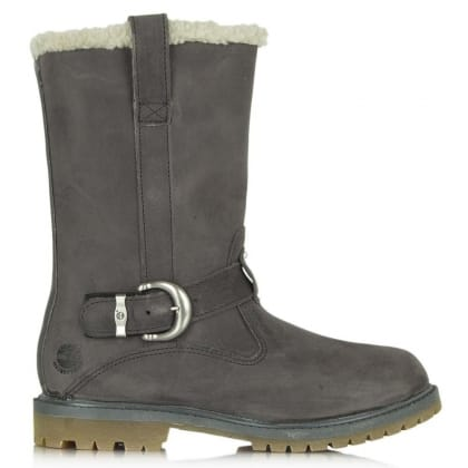 Timberland Nellie Pull-On Grey Leather Winter Womens Boot