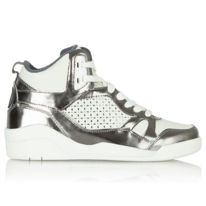 DKNY Cleo White Hightop Trainer