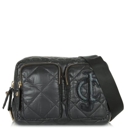 Juicy Couture Hollywood Pocket Black Leather Cross-body Bag