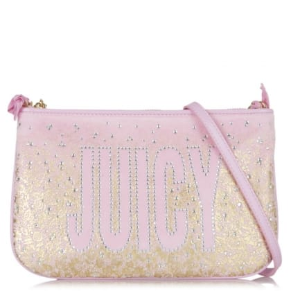 Juicy Couture Pink JC Pretty Velour Cross-body