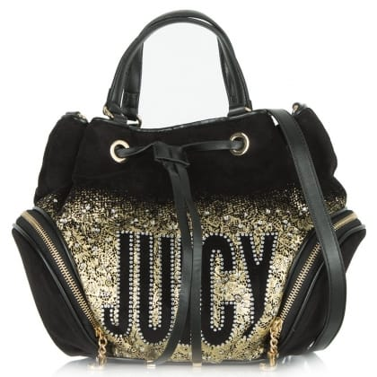Juicy Couture Pretty Drawstring Glitter Backpack
