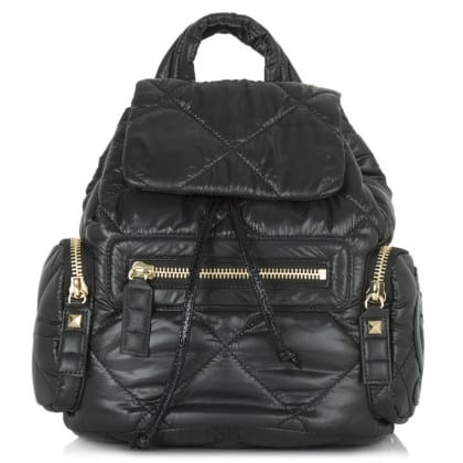 Juicy Couture Hollywood Black Leather Backpack