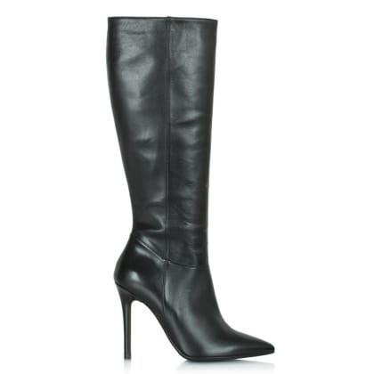 Daniel Excellence Black Leather Pointed Knee High Boot