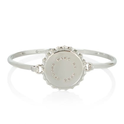 Marc By Marc Jacobs Lost & Found Silver Metal Bottle Top Braclet