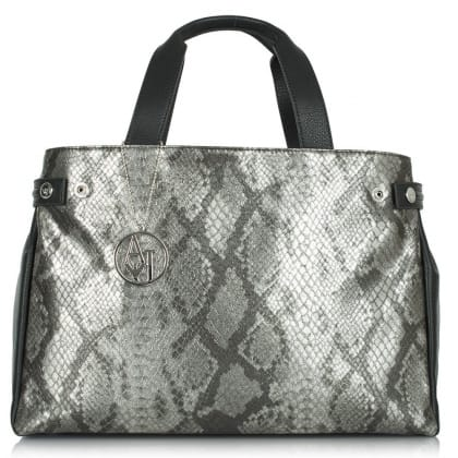 Armani Jeans Chutney Black Reptile Shoulder Bag