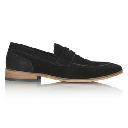Daniel Black Suede Bedimo Men's Loafer