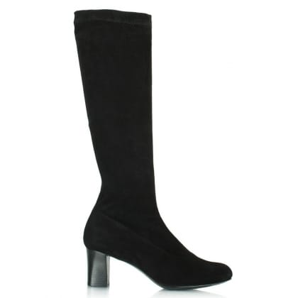 Robert Clergerie Women's Passac Black Suede Knee High Boot