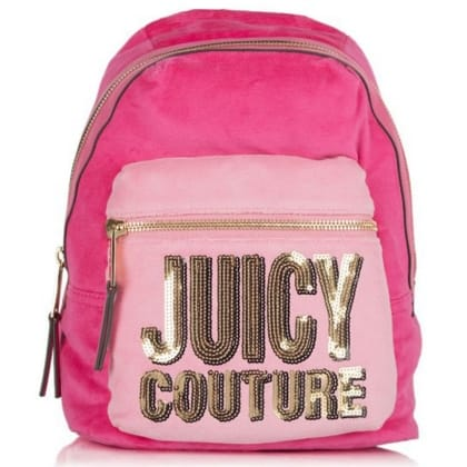 Juicy Couture Velour Sequin Pink Backpack