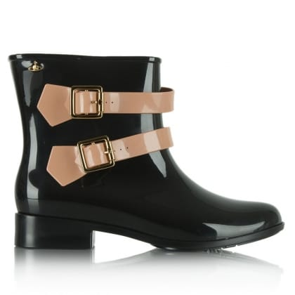 Vivienne Westwood Pirate Black Strap Jelly Wellington Boot