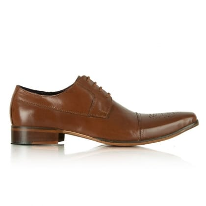 Daniel Tan Jay Jay 108 Leather Stitch Detail Lace Up Shoe