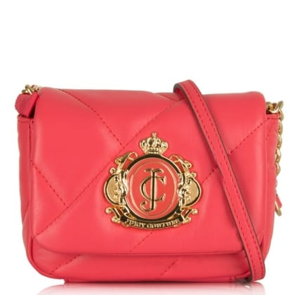 Juicy Couture Noveau Crest Pink Mini Messenger Bag