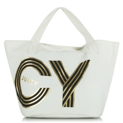 Juicy Couture Oversize Beige Canvas Tote Bag