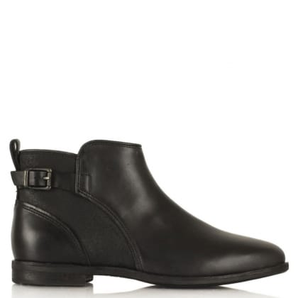 UGG® Australia Authorised Retailer Demi Black Leather Ankle Boot