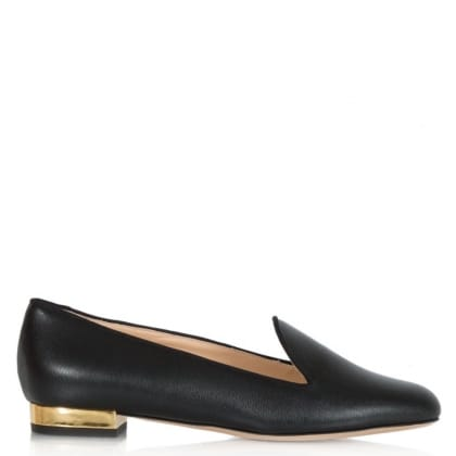 Charlotte Olympia ABC Flat Black Leather Sticker Pump