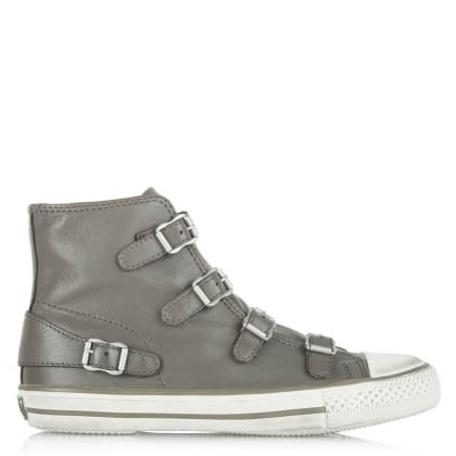 Ash Virgin Bis Grey Leather High Top Trainer