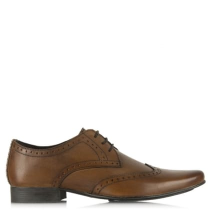 Daniel Christopher Tan Leather Classic Square Toe Brogue