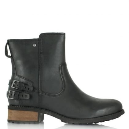 UGG Orion Black Leather Ankle Boot