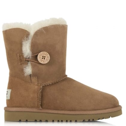 UGG Kids Bailey Button Chestnut Twinface Boot