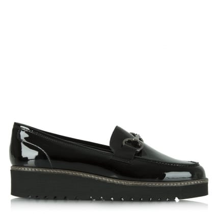 Luca Grossi Luca 9 Black Patent Chunky Loafer
