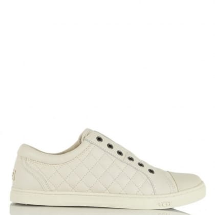 UGG Australia Jemma Quilted White Leather Trainer