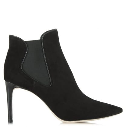 Tory Burch Dorset Black Suede Ankle Boot